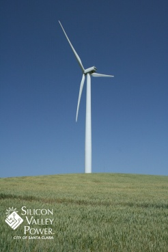 wind turbine with logo